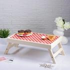 """Столик для завтрака складной """"Красная клетка"""", 48×28см"""