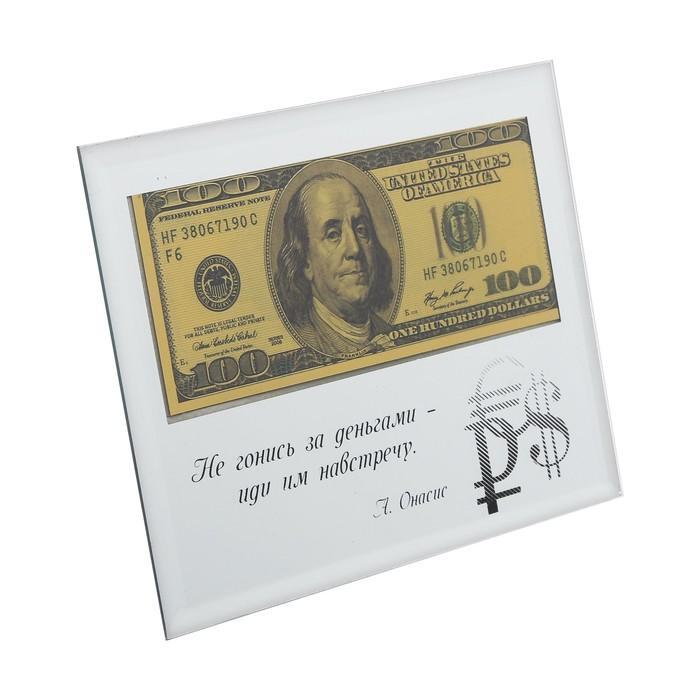 Купюра 100$ в рамке