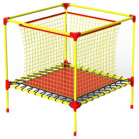 Батут-манеж Leco-IT Home, 100 х 100 см, с внутренней защитной сеткой, жёлтый/красный Ош