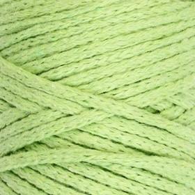 Шнур для вязания без сердечника 100% хлопок, ширина 3мм 100м/200гр (фисташковый)