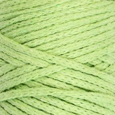 Шнур для вязания без сердечника 100% хлопок, ширина 3мм 100м/200гр (фисташковый) - Фото 1