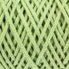 Шнур для вязания без сердечника 100% хлопок, ширина 3мм 100м/200гр (фисташковый) - Фото 4
