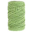 Шнур для вязания без сердечника 100% хлопок, ширина 3мм 100м/200гр (фисташковый) - Фото 5