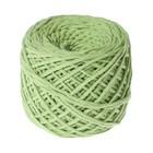 Шнур для вязания без сердечника 100% хлопок, ширина 3мм 100м/200гр (фисташковый) - Фото 6