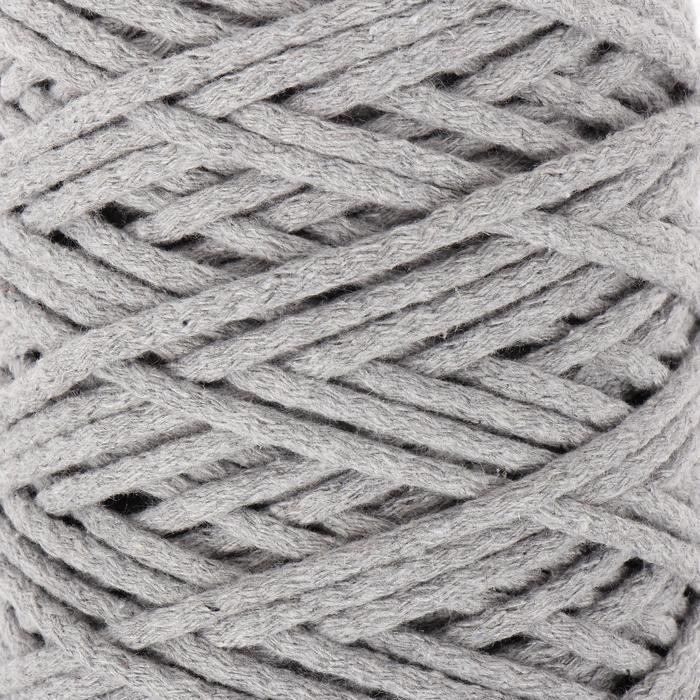 Шнур для вязания 100% хлопок, ширина 5 мм 100м/450гр (св. серый)