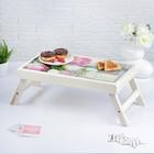 """Столик для завтрака складной """"Моей любимой"""", розы, 48×28см"""