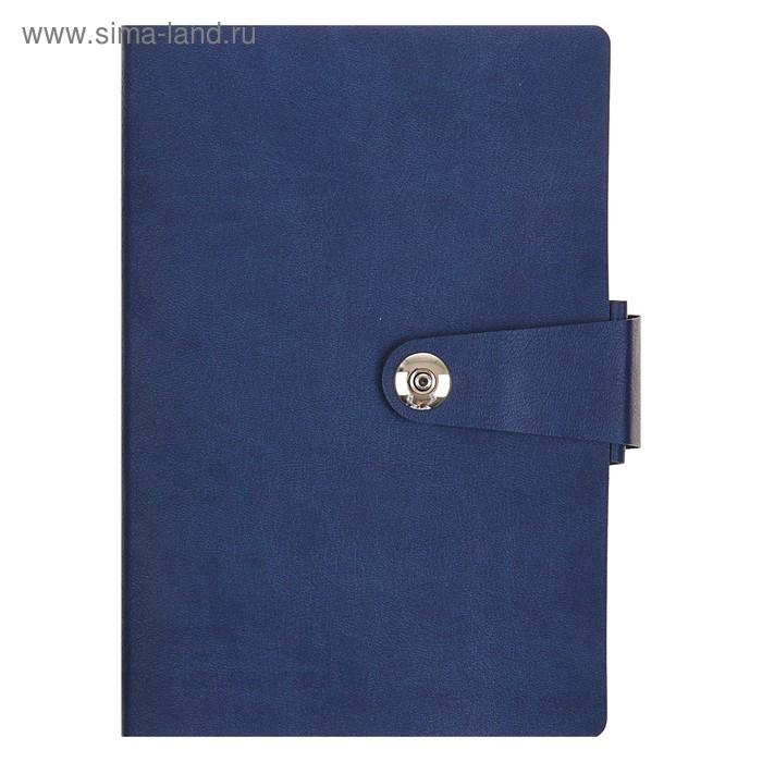 Ежедневник недатированный А5, 136 листов Primavera, искусственная кожа, тонированный блок, ляссе, синий