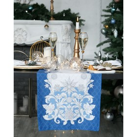 Дорожка на стол 'Этель' Зимние узоры 40х147 см, 100% хл, саржа 190 гр/м2 Ош