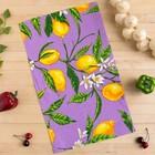 Полотенце вафельное Collorista Лимоны, цвет сиреневый 35х58,100% хл,160 г/м² - Фото 1