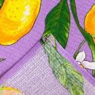 Полотенце вафельное Collorista Лимоны, цвет сиреневый 35х58,100% хл,160 г/м² - Фото 3