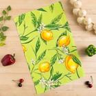 Полотенце вафельное Collorista Лимоны, цвет оливковый 35х58,100% хл,160 г/м?