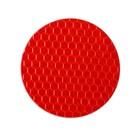 Наклейка на авто, светоотражающая, круг d 5 cм, красный