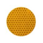 Наклейка на авто, светоотражающая, круг d 5 cм, желтый