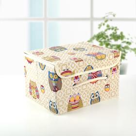 Короб для хранения с крышкой «Совушки», 28×21×17 см Ош