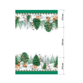 Скатерть «Этель: Новогодний лес», 180 × 148 см с ГМВО, 100 % хлопок, саржа, 190 г/м² Ош