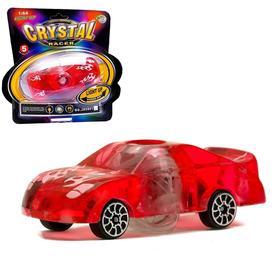 Машина «Кристал», работает от батареек, световые эффекты, цвета МИКС