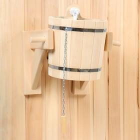 Обливное устройство из липы, 9л, нержавеющая вставка Ош
