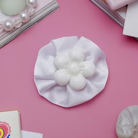 Зажим для волос 'Маленькая леди' цветок, белый Ош