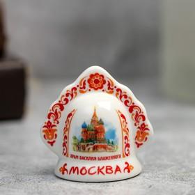 Колокольчик в виде кокошника «Москва» (Храм Василия Блаженного), 5.5 х 5.5 см