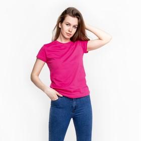 Футболка женская, цвет розовый МИКС, размер 46 Ош