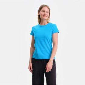 Футболка женская, цвет светло-синий МИКС, размер 52 Ош
