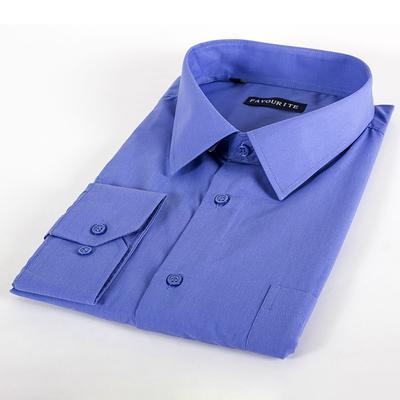 Сорочка классическая мужская  GDF0401_FAV цвет синий, р-р 52