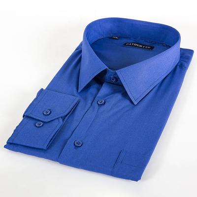 Сорочка классическая мужская, цвет синий, р-р 64-66, об.шеи 49, рост 188-194