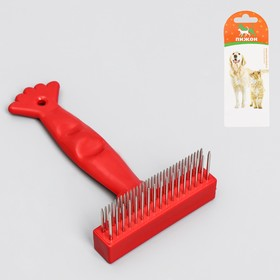 Расчёска-грабли 'Лапка', 15,5 х 8,5 см Ош
