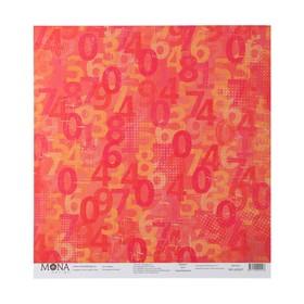 """Бумага для скрапбукинга """"Цифры"""" 30.5х30.5 см, 190 гр/м"""