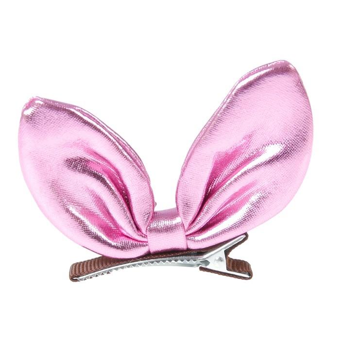 Карнавальный зажим «Бантик», цвет розовый