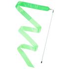 Лента гимнастическая с палочкой 6 м, цвет зелёный