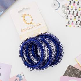 Резинка для волос 'Петельки' (цена за штуку) синий Ош