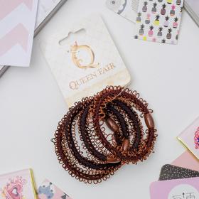 Резинка для волос 'Петельки' (цена за штуку) коричневый Ош