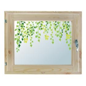 Окно, 40×60см, 'Листочки', однокамерный стеклопакет Ош