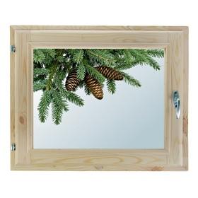Окно, 40×60см, 'Еловая веточка', однокамерный стеклопакет Ош