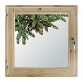 Окно, 50×50см, 'Еловая веточка', однокамерный стеклопакет Ош
