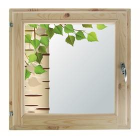 Окно, 50×50см, 'Берёзка', однокамерный стеклопакет Ош