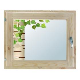 Окно 40х60 см, 'Берёзка', однокамерный стеклопакет, уплотнитель, хвоя Ош