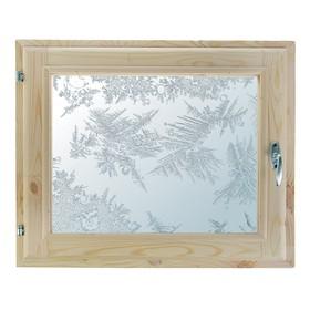 Окно, 40×60см, 'Морозные узоры', однокамерный стеклопакет Ош