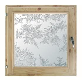 Окно, 50×50см, 'Морозные узоры', однокамерный стеклопакет Ош