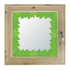Окно, 50×50см, 'Кленовые листья', однокамерный стеклопакет Ош