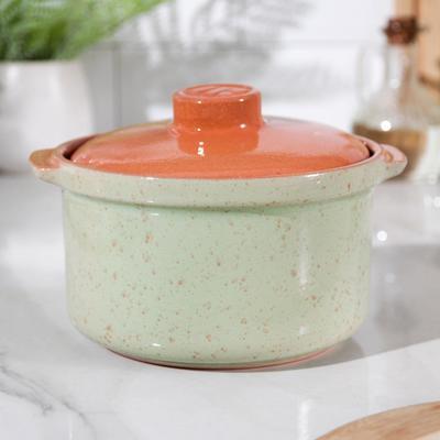 Сотейник Ломоносовская керамика, 1 л, цвет зелёный
