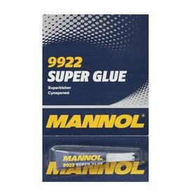 Клей MANNOL, секундный, 'Super Glue' 3 гр Ош