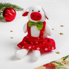 Мягкая игрушка «Свинюшка сарафан в горошек» Ош