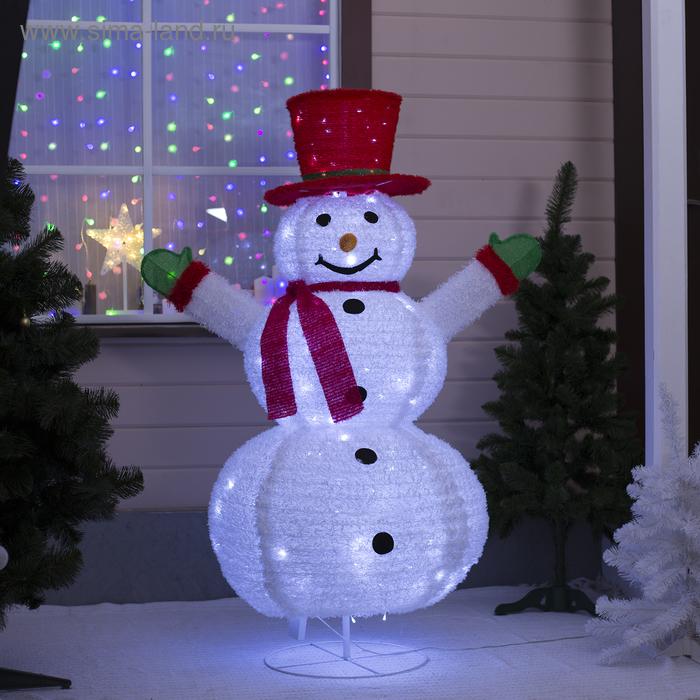 """Фигура ткань """"Снеговик"""", 150 см, 150 LED, 220 В, белый"""