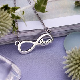 Кулон ассорти 'Стальной' бесконечность, цвет серебро, 45 см Ош