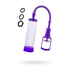 Помпа для пениса Sexus Men Erection, вакуумная, ABS пластик, прозрачный, 23 см Ош