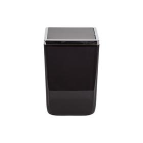 Урна с крышкой Toskana, 6 л, цвет прозрачно-чёрный Ош