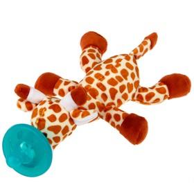 Прорезыватель-соска с игрушкой «Жирафик»