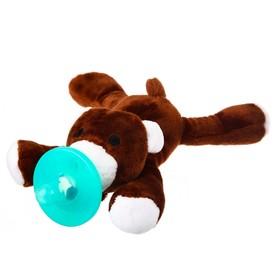 Прорезыватель-соска с игрушкой «Мишка»